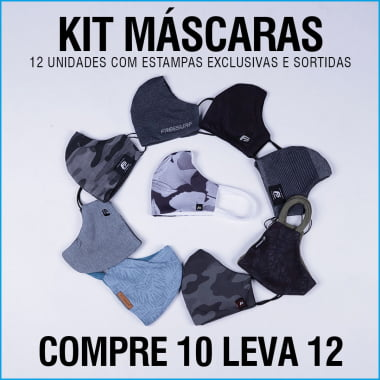 Kit 12 Máscaras FreeSurf Estampas Exclusivas